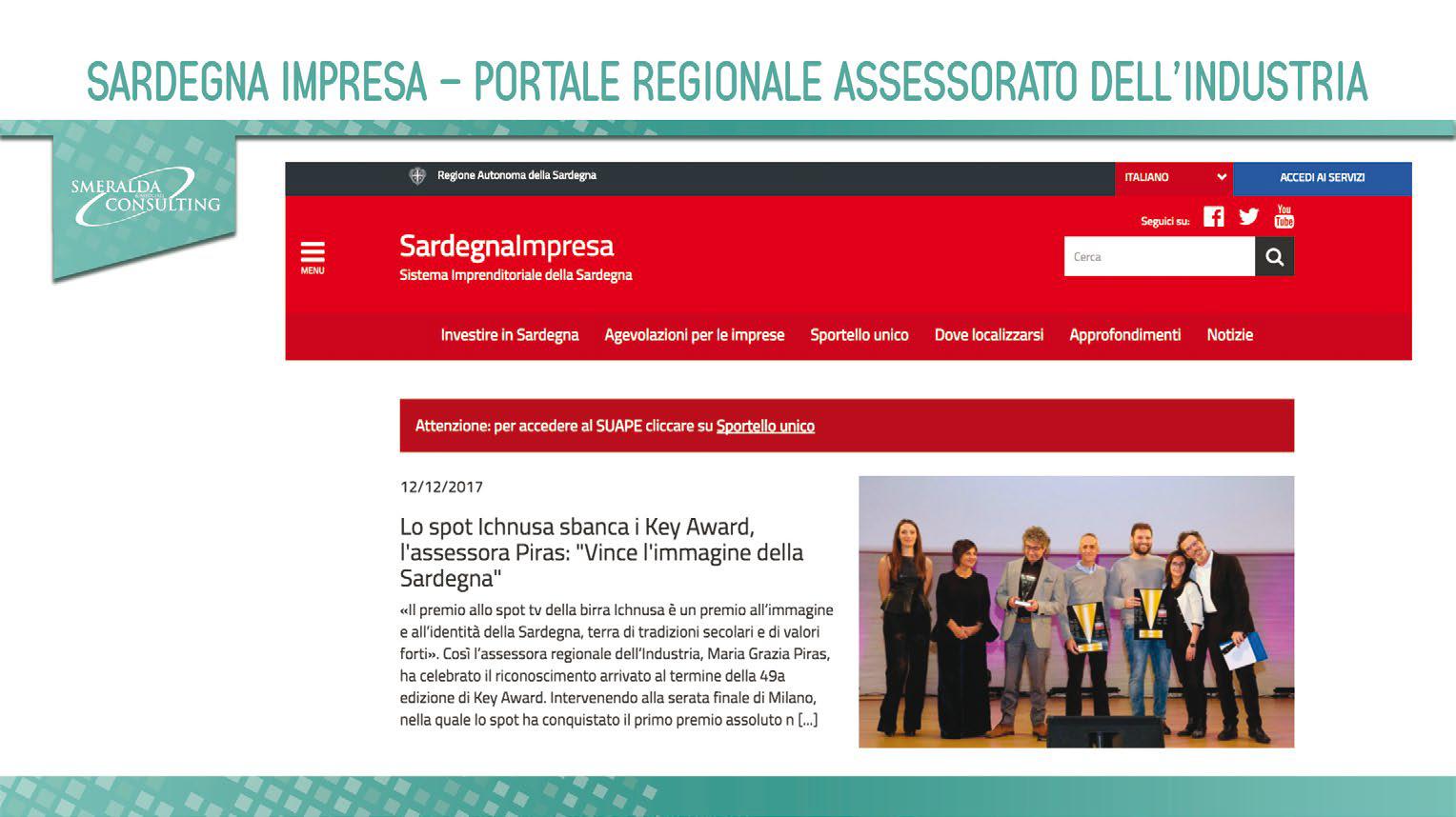 Sardegna Impresa – Portale Regionale Assessorato dell'Industria