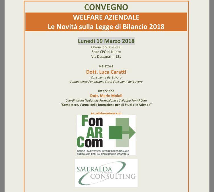 """A Nuoro il Convegno """"Welfare Aziendale"""""""
