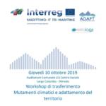 Progetto Adapt – Workshop di trasferimento sui mutamenti climatici