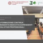 """Webinar gratuito """"La formazione finanziata dedicata ai dipendenti degli studi professionali"""""""